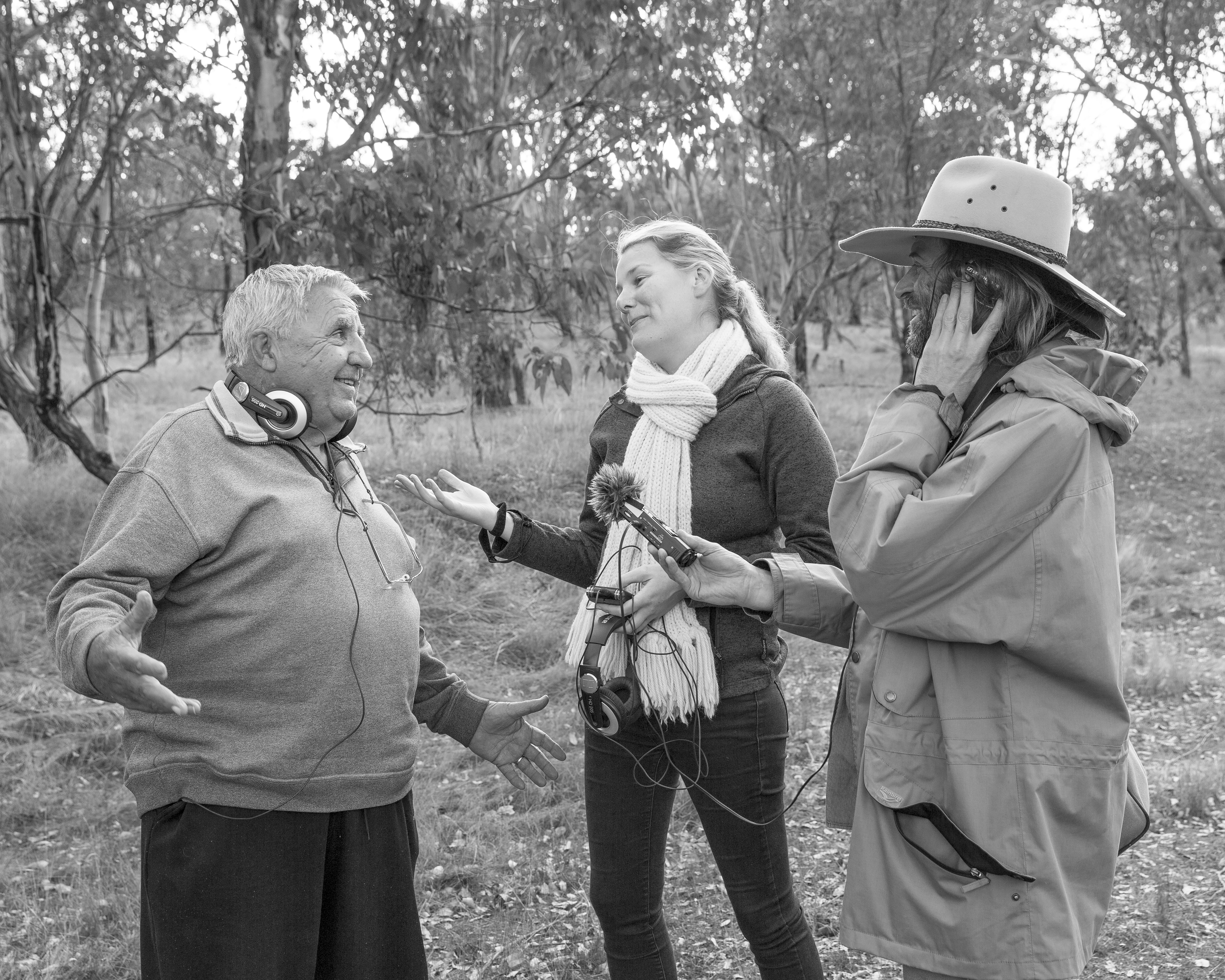 The Wired Lab interview Wiradjuri elder Bob Glanville on a TSR near Cootamundra. Photo by James Farley.